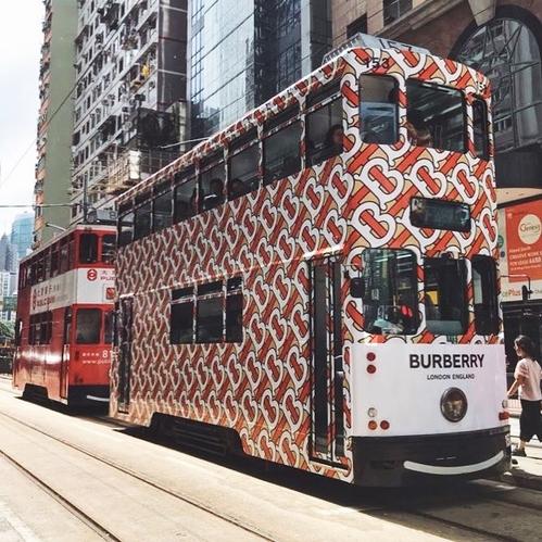 burberry logo tram hong kong